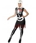 Costum Halloween adulti femei fosforescent