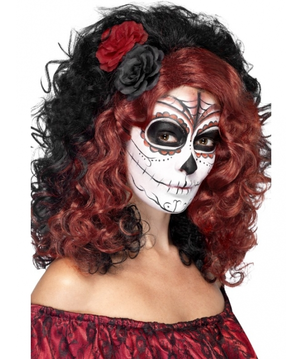 Peruca Halloween Day of the Dead