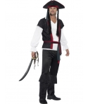 Costum carnaval barbati pirat cu palarie