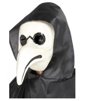Masca Halloween Doctor ciuma alba