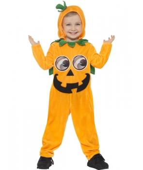 Costum Halloween copii Dovleac portocaliu
