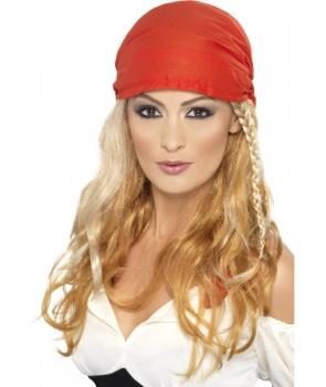 Peruca petrecere pirata cu bandana