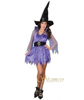 Costum Halloween femei vrajitoare albastra