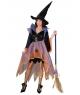Costum femei vrajitoare multicolora Halloween