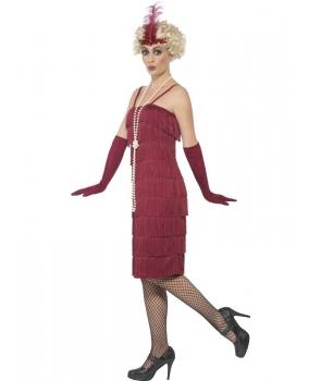 Costum carnaval femei anii 20 cu manusi