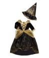 Costum Halloween fete vrajitoare cu auriu