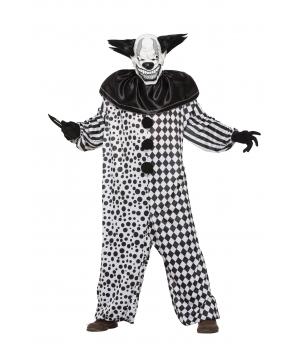 Costum Halloween barbati clovn horror