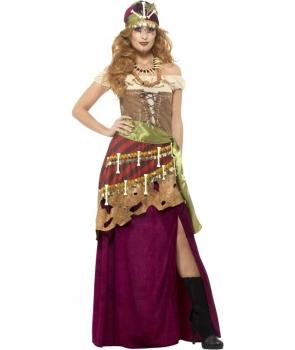 Costum carnaval femei voodoo de lux