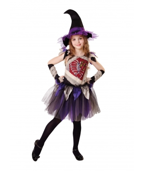 Costum Halloween fete vrajitoare zombie