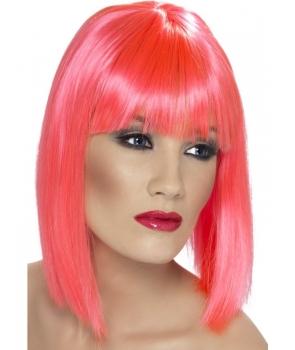 Peruca petrecere Glam roz
