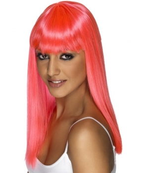 Peruca petrecere Glamourama roz