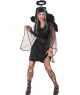 Costum adulti femei inger negru scurt Halloween