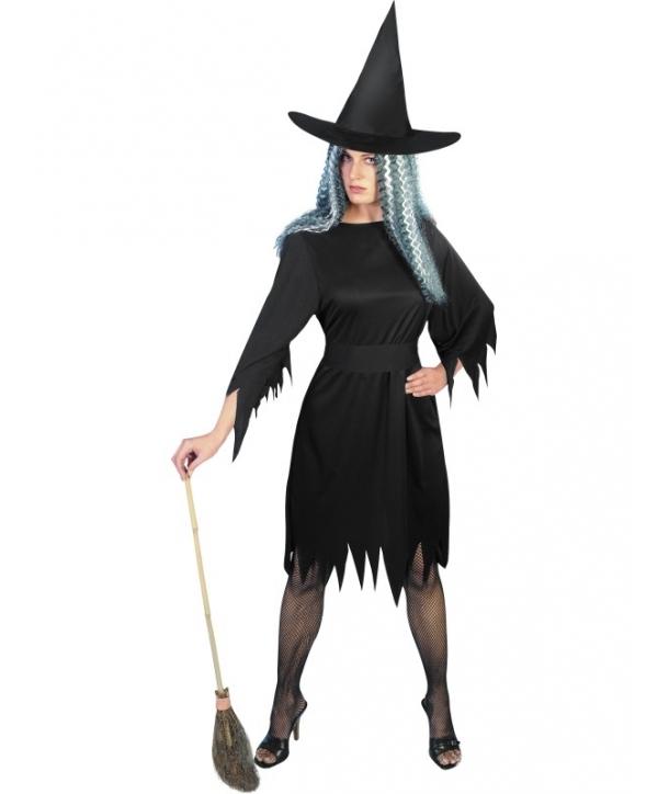 Costum femei vrajitoare cu palarie Halloween