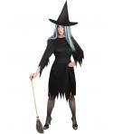 Costum Halloween femei vrajitoare cu palarie