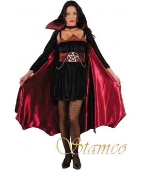 Costum Halloween femei vampirita cu pelerina