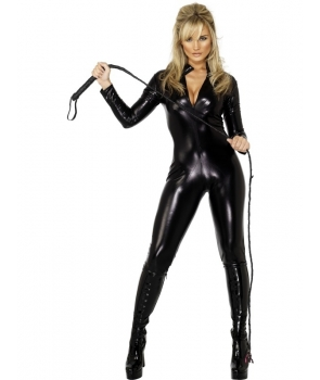 Costum femei pisica lucios Halloween