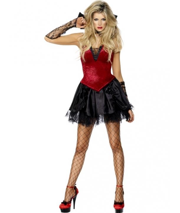 Costum femei vampirita cu guler Halloween