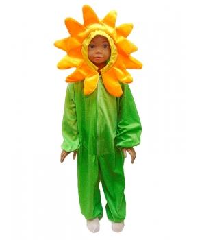 Costum carnaval copii floare cu verde
