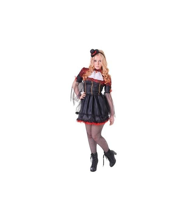 Costum femei vampirita cu palarie Halloween