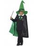 Costum copii vrajitor verde Halloween