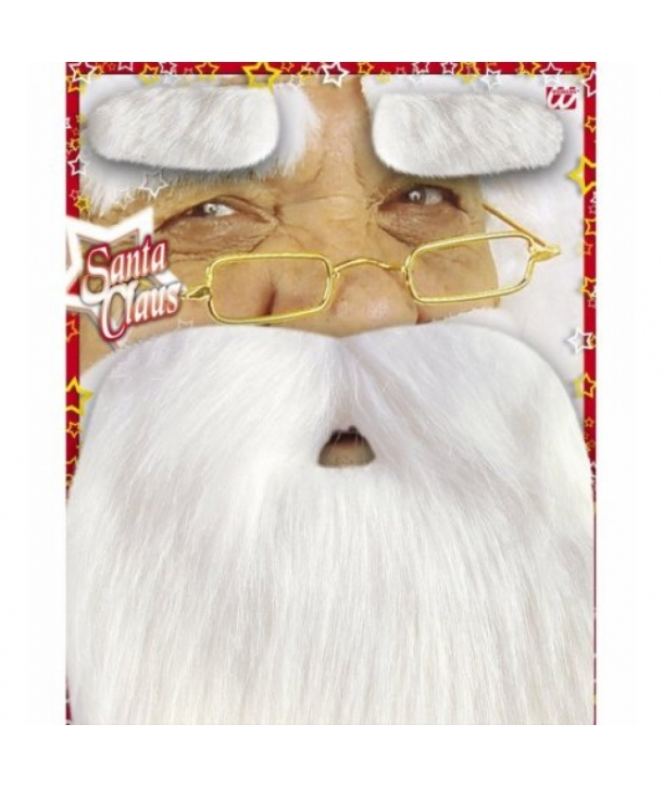 Set Craciun barba si sprancene Mos Craciun