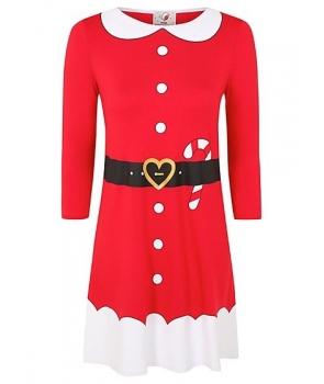 Costum Craciunita femei rochie