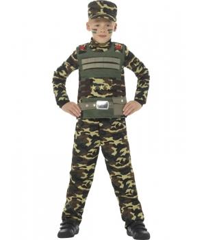 Costum carnaval baieti soldat camuflaj
