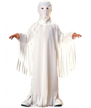 Costum Halloween baieti fantoma alba