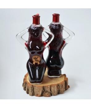 Cadou sticla cu vin femeie