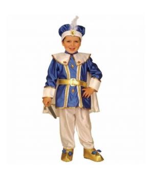 Costum carnaval baieti print albastru