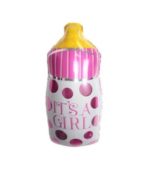 Balon folie biberon It's a girl