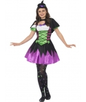 Costum Halloween fete vrajitoare punky