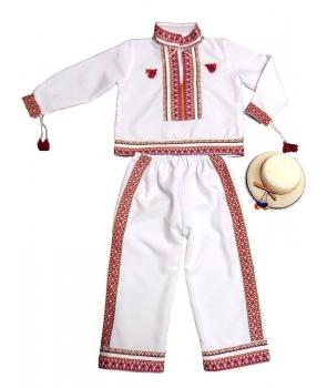 Costum national baieti alb