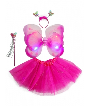 Set fluture fete roz cu lumini