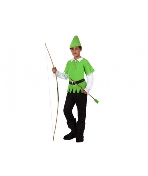 Costum carnaval baieti Robin Hood cu palarie