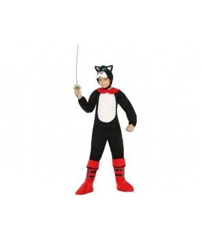 Costum carnaval copii Motanul incaltat cu rosu