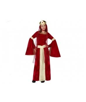 Costum carnaval fete Printesa medievala visinie
