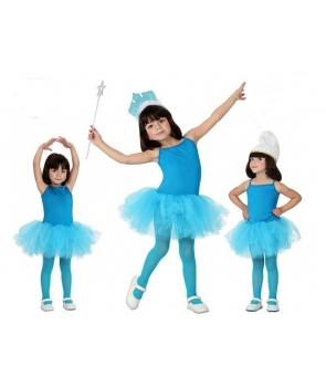 Body albastru cu fusta tutu balet