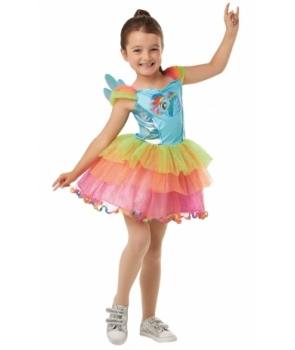Costum carnaval fete Rainbow Dash model nou