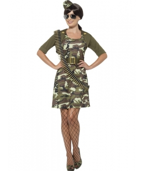 Costum carnaval femei Army aviator