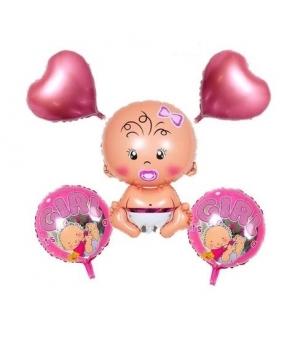 Set baloane nou nascut fata