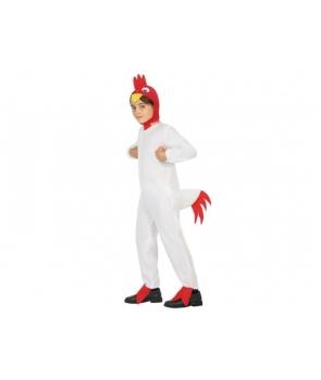 Costum carnaval copii Cocos alb