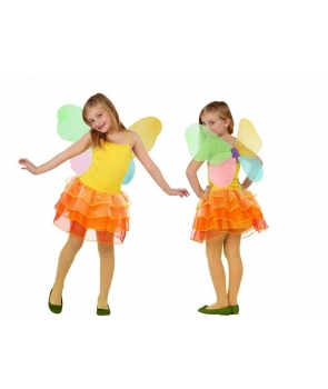 Costum carnaval fete Fluture portocaliu