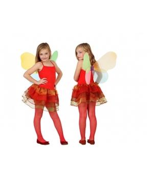 Costum carnaval fete Fluture rosu