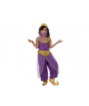 Costum carnaval dansatoare araba mov