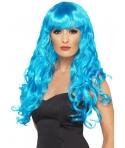 Peruca petrecere sirena albastra