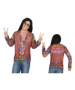 Bluza hippie cu imprimeu realistic