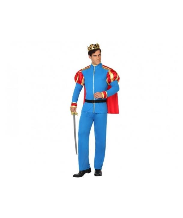 Costum carnaval barbati Print albastru