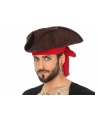 Palarie petrecere Pirat Tricorn negru