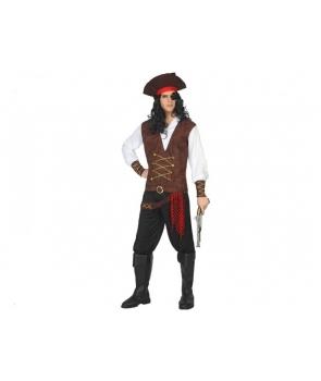 Costum carnaval barbati Pirat cu rosu